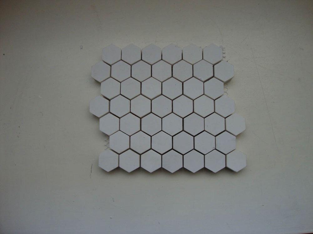 Alumina ceramic Lining Pieces Mosaic Alumina Ceramic Tile (Hexagon)